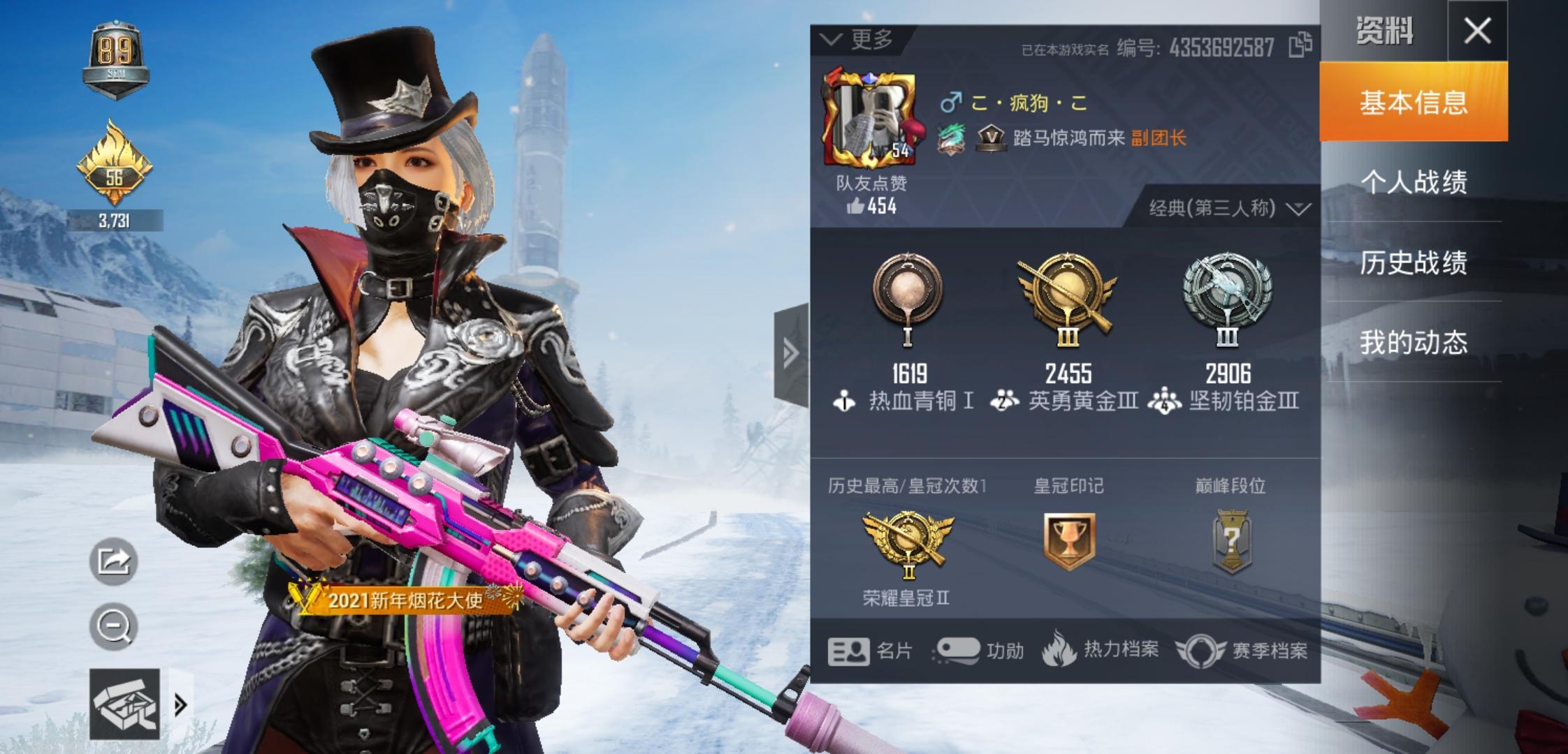 【安卓QQ】62套装-86枪皮   安卓QQ007n特斯拉model X (黑),特斯拉model 3(白)粉色套装:古堡领主、金属狂野·AKM-炫紫璇律(5级)